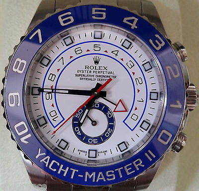 ROLEX YACHT-MASTER II 116680 STAINLESS 44MM NEW MODEL BOX WARRANTY CARD