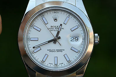 ROLEX MENS DATEJUST II STAINLESS STEEL 116300 41mm SMOOTH BEZEL BOX UNWORN