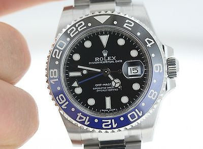 Rolex GMT Master II Batman 116710 Steel Blue Black Ceramic Bezel New Unworn
