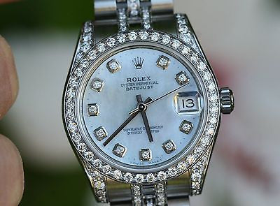 ROLEX 31mm MIDSIZE 178240 DIAMOND LUGS BAND BEZEL DIAL for 18k WHITE GOLD 178159