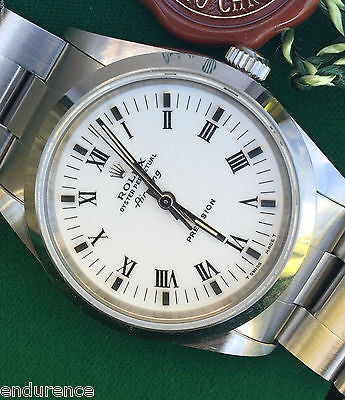 ROLEX AIRKING VINTAGE 1995 NEW OLD INVENTORY WITH BOX & PAPERS 34mm MODEL 14000
