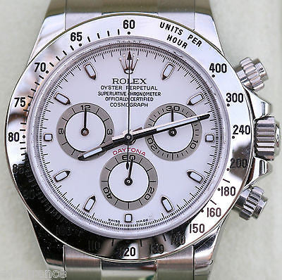 zzzzzzzzzzROLEX DAYTONA STAINLESS STEEL WHITE DIAL 116520 BOX BOOKLETS CERT CARD BRAND NEW