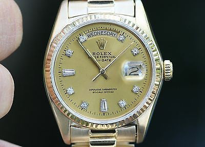 Rolex 18038 Day-Date 36mm Mens President 18k Yellow Gold Diamond Dial