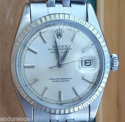 ROLEX DATEJUST STAINLESS STEEL 36mm MODEL 1603 WATCH