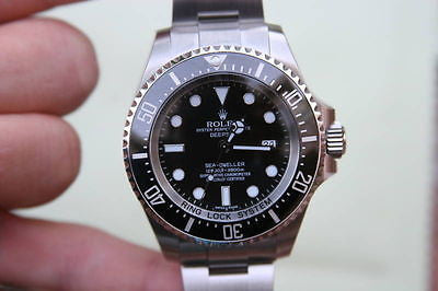 ROLEX MENS 116660 SEA-DWELLER DEEP SEA BOX CARD COMPLETE NEW UNWORN