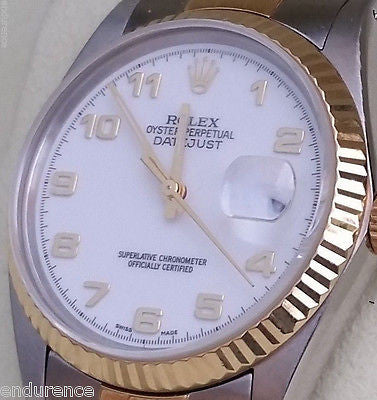 ROLEX DATEJUST Gold Stainless Steel 36mm Jubilee band MODEL 16013