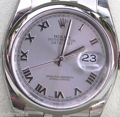 ROLEX DATEJUST MENS WATCH STAINLESS STEEL 116200 UNWORN BOX AND CARD CERT