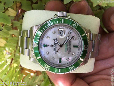 ROLEX SUBMARINER STAINLESS STEEL MOTHER OF PEARL SERTI STYLE DIAL MODEL 16610