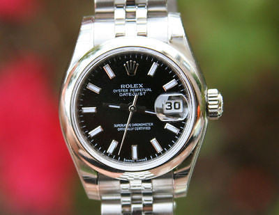 ROLEX DATEJUST 179160 LADIES 26mm STEEL UNWORN