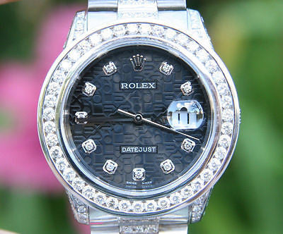 ROLEX DATEJUST MENS 36mm DIAMOND PRESIDENT BAND 3.5ct.