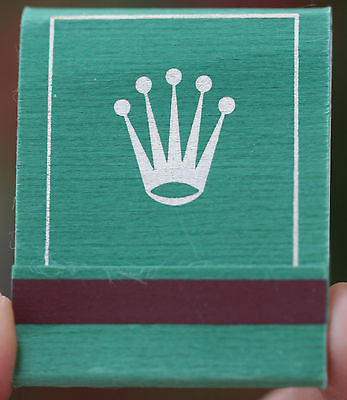 ROLEX WATCH MATCHBOOK MATCHBOOKS MATCHBOX MATCHBOXES VINTAGE UNUSED PERFECT