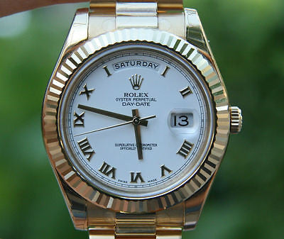 ROLEX 218238 DAY DATE II 18K YELLOW GOLD PRESIDENT 41MM