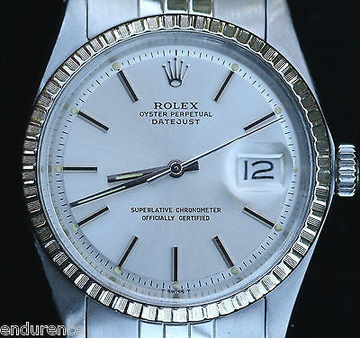 ROLEX DATEJUST STAINLESS STEEL 36mm MODEL 1603 Jubilee Band