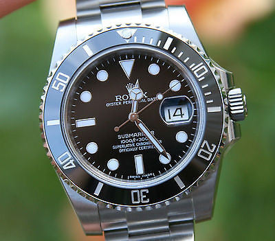 ROLEX MENS SUBMARINER 116610 STAINLESS STEEL CERAMIC LATEST MODEL LOOKS UNWORN