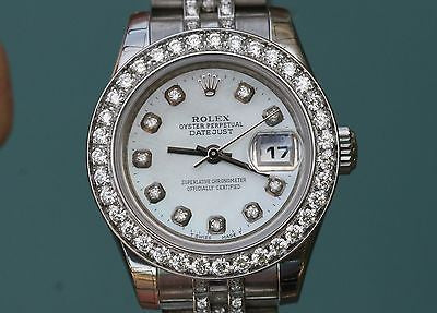ROLEX LADIES DATEJUST STAINLESS STEEL JUBILEE DIAMOND BAND DIAL BEZEL UNWORN