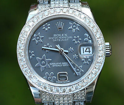 ROLEX DATEJUST 178240 DIAMOND BAND 31mm 18K WHITE GOLD BEZEL FOR 178159 178279