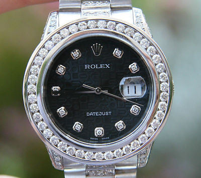 ROLEX DATEJUST 36mm STEEL 18K GOLD PRESIDENT DIAMOND