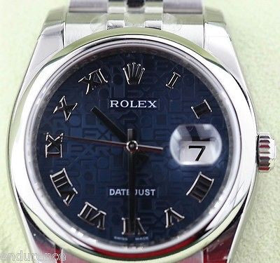 ROLEX DATEJUST MENS WATCH 116200 STEEL INSIDE BEZEL ENGRAVING BOX PAPERS