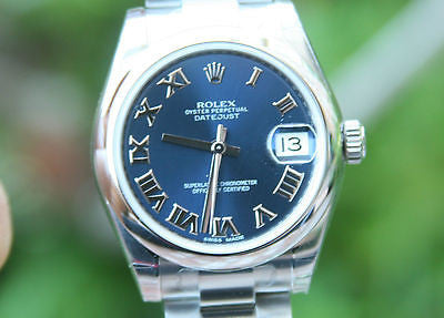 ROLEX 31mm MIDSIZE MENS OR LADIES DATEJUST STAINLESS STEEL 178240