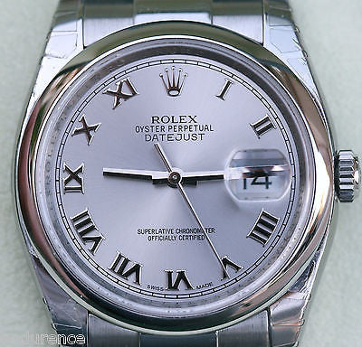 ROLEX DATEJUST MENS 116200 STAINLESS STEEL OYSTER BRACELET WARRANTY CARD PERFECT