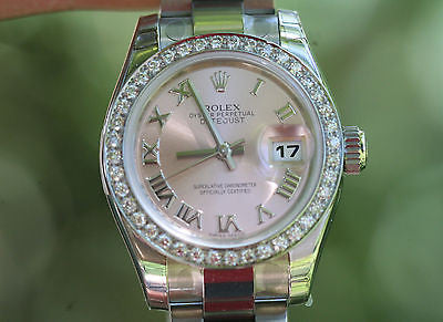 ROLEX LADIES DATEJUST 2013 OYSTER UNWORN Box Tags Warranty 26mm 179160 Diamonds