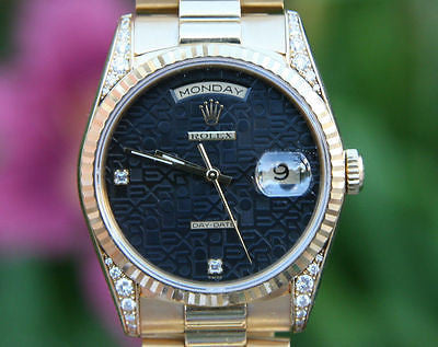 ROLEX MENS SUPER PRESIDENT CROWN COLLECTION 18338
