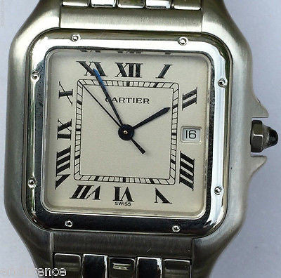 Cartier Panthère 1300 MENS SIZE GREAT DEAL STAINLESS  QUARTZ  PAPERS & BOOKLETS