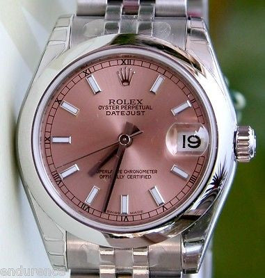 ROLEX DATEJUST LADIES NEW MIDSIZE STAINLESS STEEL BOX PAPER MODEL 178240