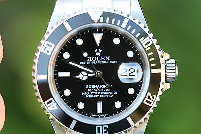ROLEX SUBMARINER BLACK 16610 OR 16600 STAINLESS STEEL BOX BOOKLETS TAGS 40mm