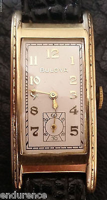 BULOVA 1937 PRESIDENT 1941 MOVEMENT CAL 7AP 17 JEWEL B- 10K GOLD FILLED