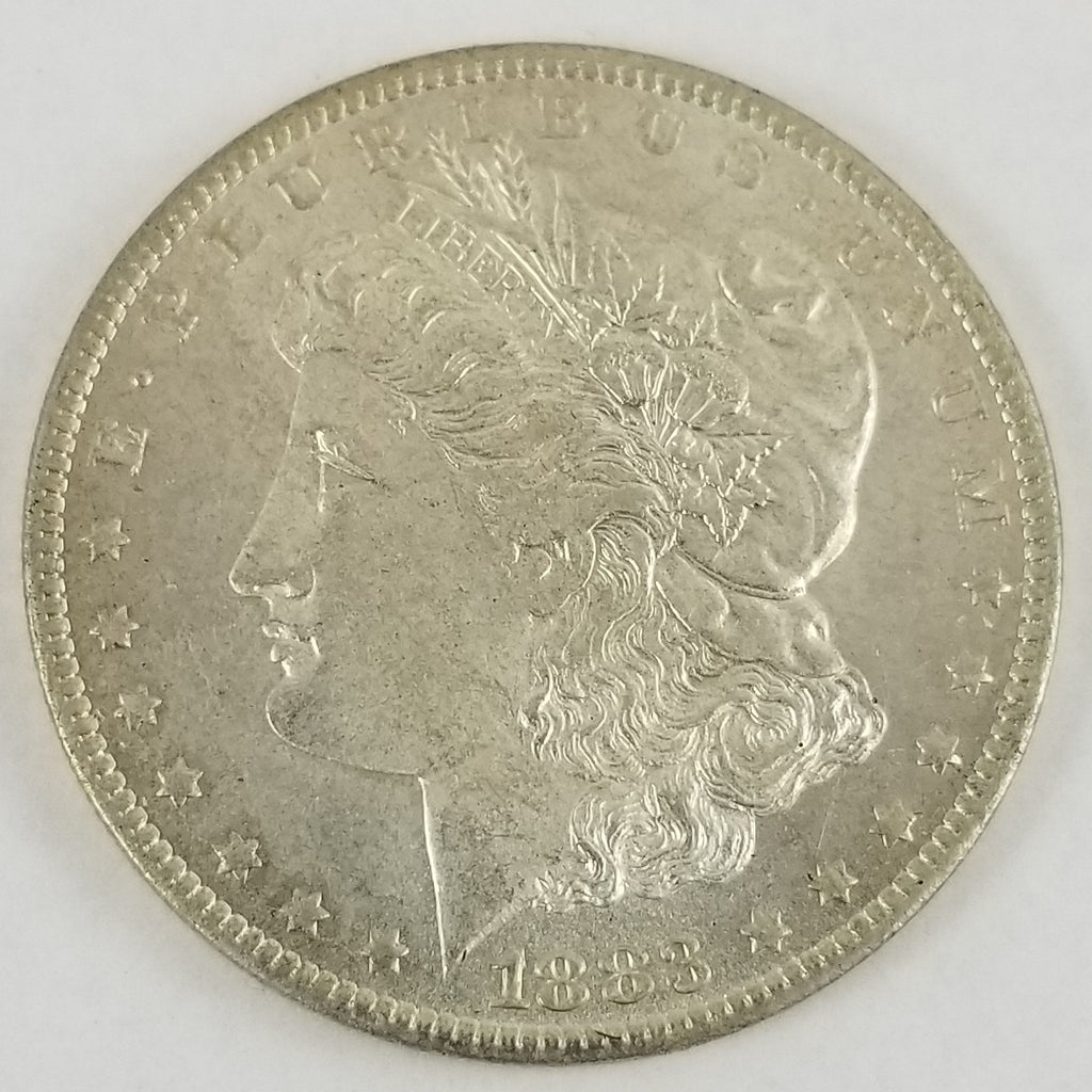 1883-O Morgan Silver Dollar $1 Coin BU Brilliant Uncirculated COA