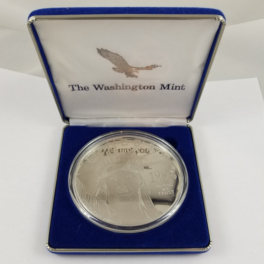 1998 Giant Quarter Pound Eagle Proof - Solid .999 Silver - .999 Platinum Layered