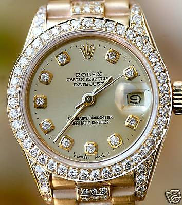 ROLEX LADIES PRESIDENT DIAMOND DIAL, BEZEL,LUGS, BAND