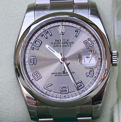 ZZZ ROLEX DATEJUST MENS WATCH NEW 2010 BOX PAPERS CENTRIC