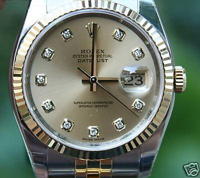 ZZZ ROLEX MENS 2 TONE DATEJUST 116233 18K GOLD AND STEEL NEW MODEL YEAR 2014 UNWORN
