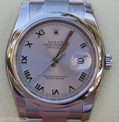ZZZ ROLEX DATEJUST MENS WATCH STAINLESS STEEL 2010 NEW GIFT