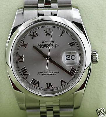 ZZZ ROLEX DATEJUST MENS WATCH STAINLESS STEEL 116200 BOX & PAPERS BRAND NEW UNWORN