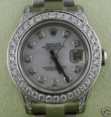 ROLEX DATEJUST LADIES 26MM STAINLESS STEEL DIAMOND DIAL BEZEL BOX & CARD YR 2014