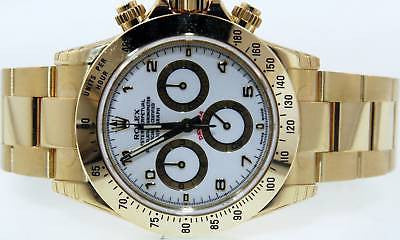 ROLEX MENS 18k GOLD 116528 CHRONOGRAPH DAYTONA WATCH BOX & CARD