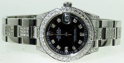 ROLEX MIDSIZE LADIES DATEJUST WATCH DIAMONDS