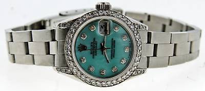 ROLEX LADIES DATEJUST WATCH DIAMOND DIAL LUGS