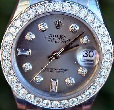 Rolex 178240 Datejust 31mm Midsize Steel Diamond Dial Bezel Oyster Bracelet