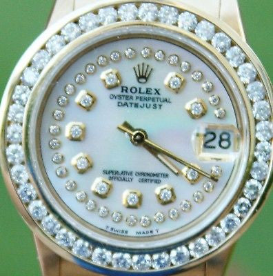 ROLEX 18k GOLD DIAMOND PRESIDENT MIDSIZE LADIES WATCH