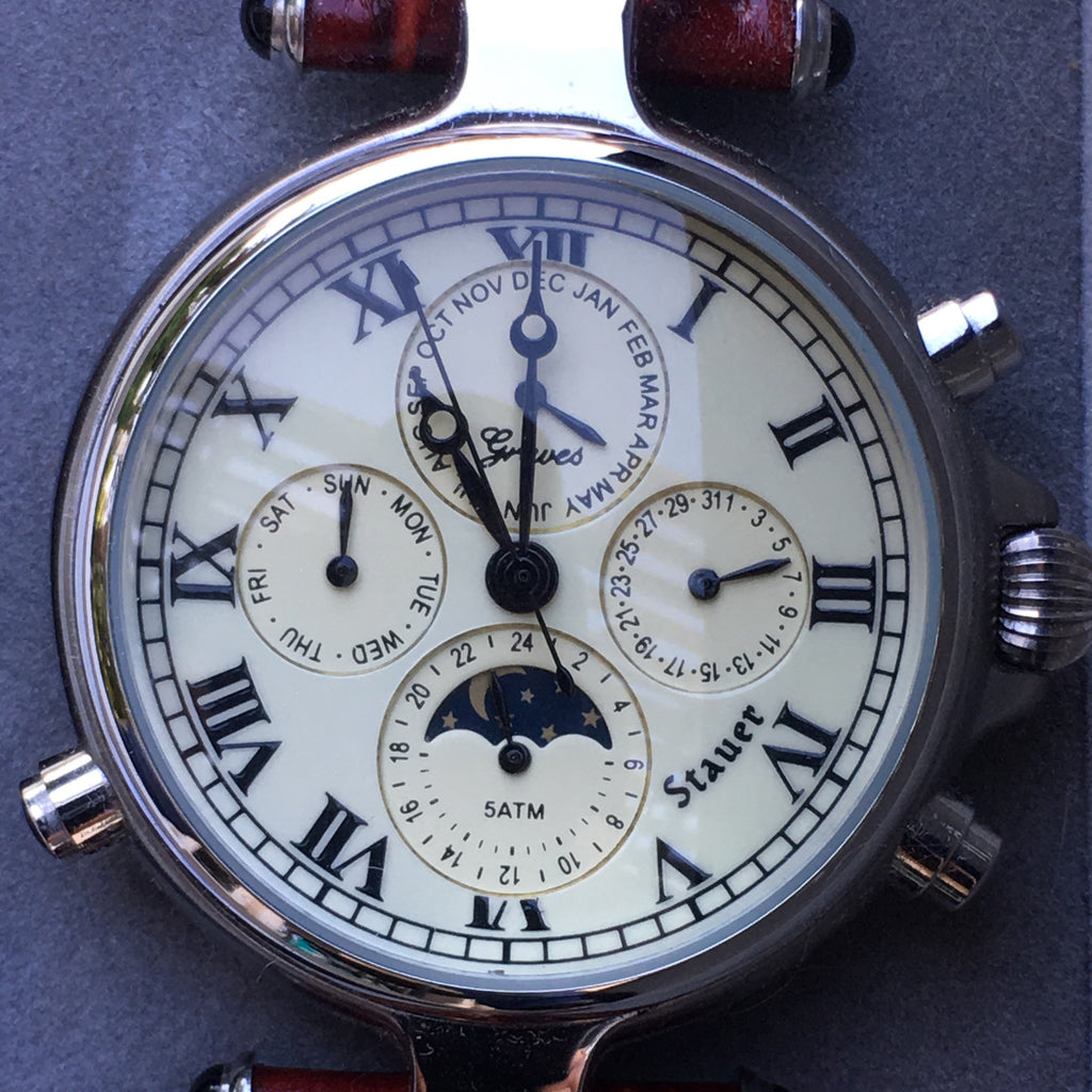 Stauer Graves '33 Silver Watch Auto