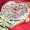 Rolex Datejust Presidential 26mm 69178 18k Gold Diamond Band Dial Lugs Bezel