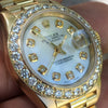 Rolex Datejust Presidential 26mm 18k Gold Oversized Diamond Bezel MOP Dial 69178