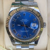 Rolex Datejust II 41mm Steel Oyster Bracelet 18k White Gold Fluted Bezel