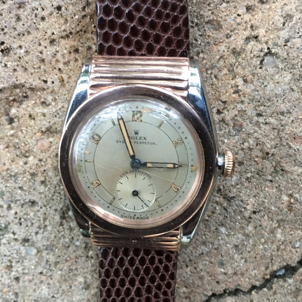 Rolex Oyster Perpetual Bubble Back Ref. 3595 Automatic Rare Vintage Year 1934