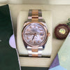 Rolex 36mm Datejust 116201 Rose Pink Gold Steel MOP Diamond Dial