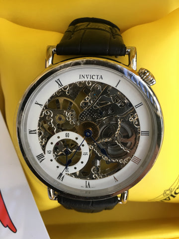 INVICTA 2912 Skeleton Automatic Stainless Steel 50mm Watch Box Papers New Rare